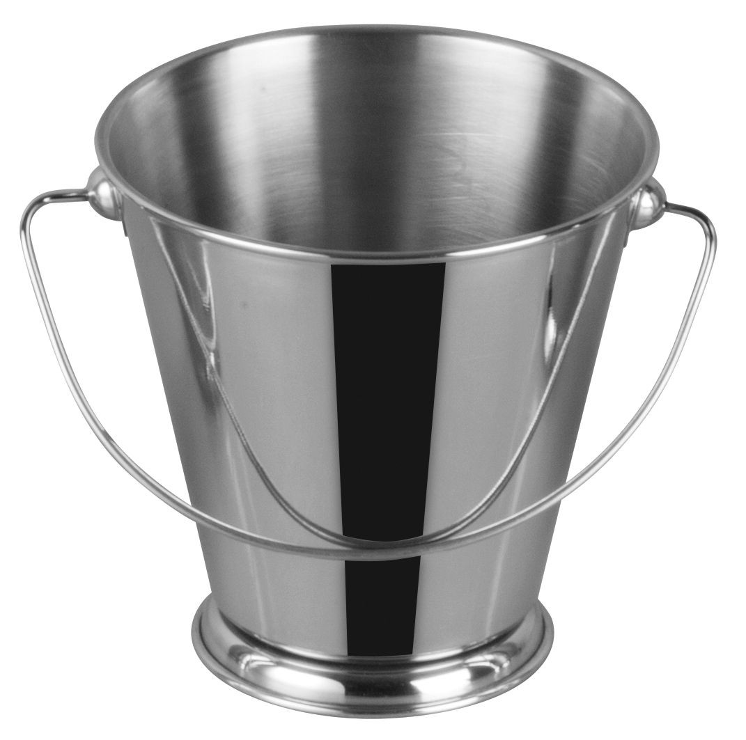 "Winco DDSA-107S Stainless Steel 5"" Dia x 5"" H Mini Pail"