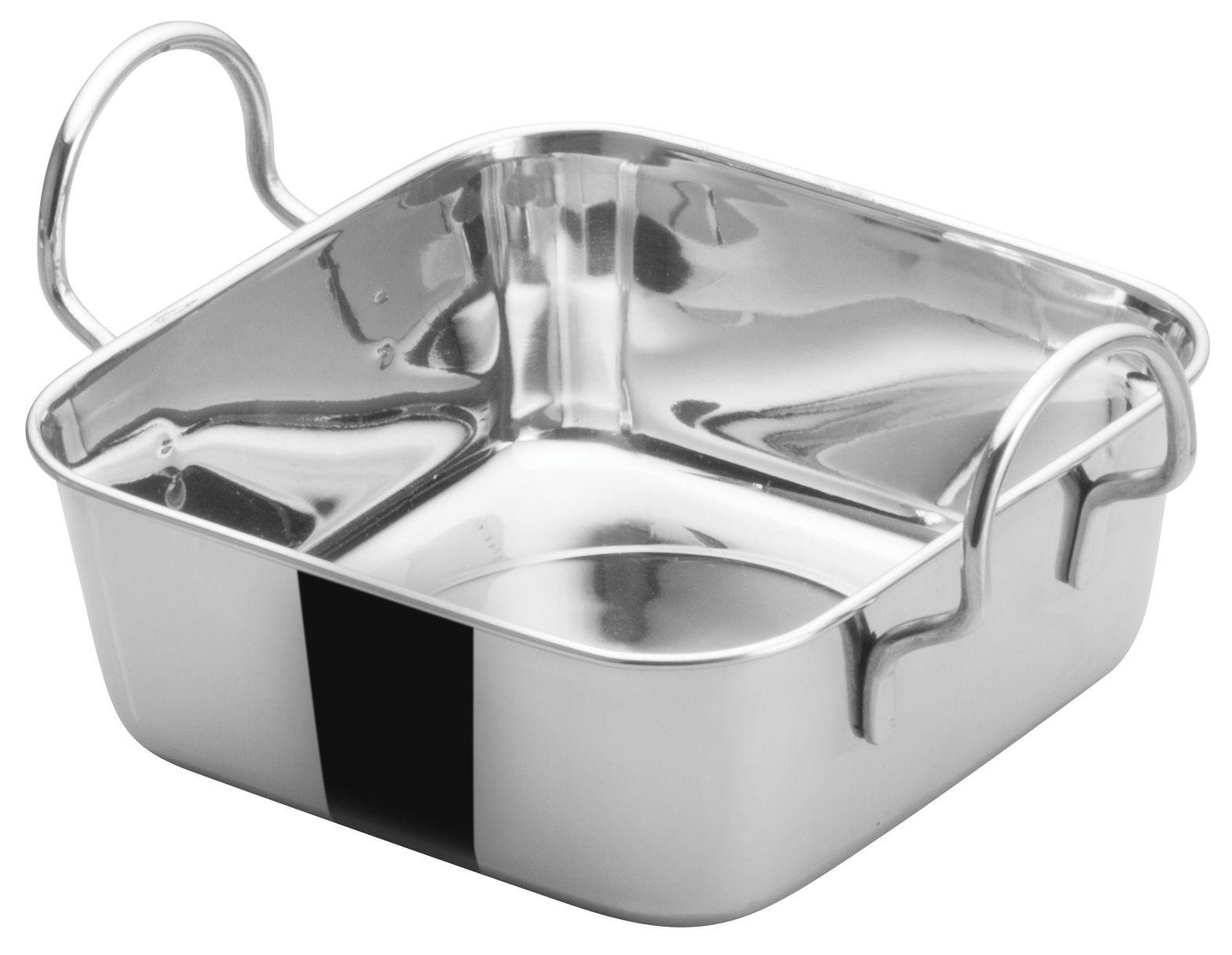 "Winco DDSB-101S Stainless Steel 4-1/2"" Mini Roasting Pan"