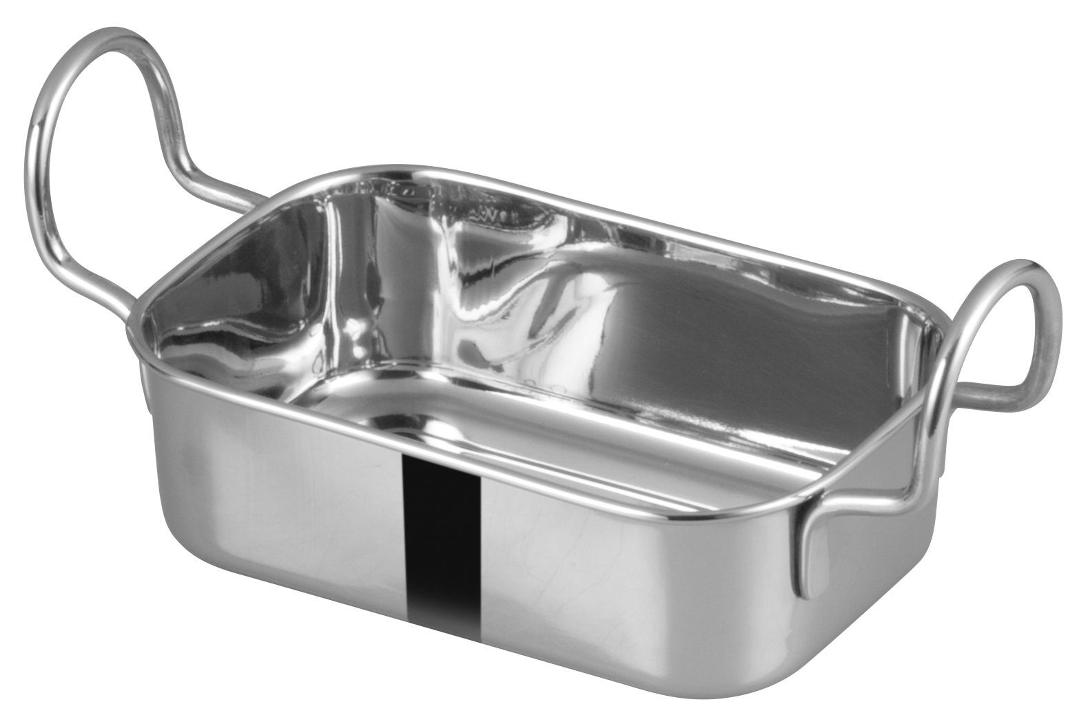 "Winco DDSB-103S Stainless Steel 5"" x 3-3/8"" Mini Roasting Pan"