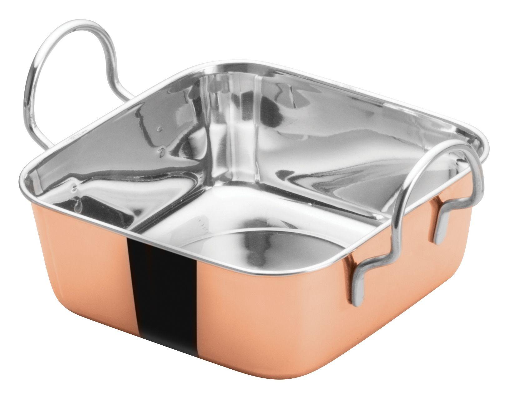 "Winco DDSB-201C Copper Plated 4-1/2"" Mini Roasting Pan"