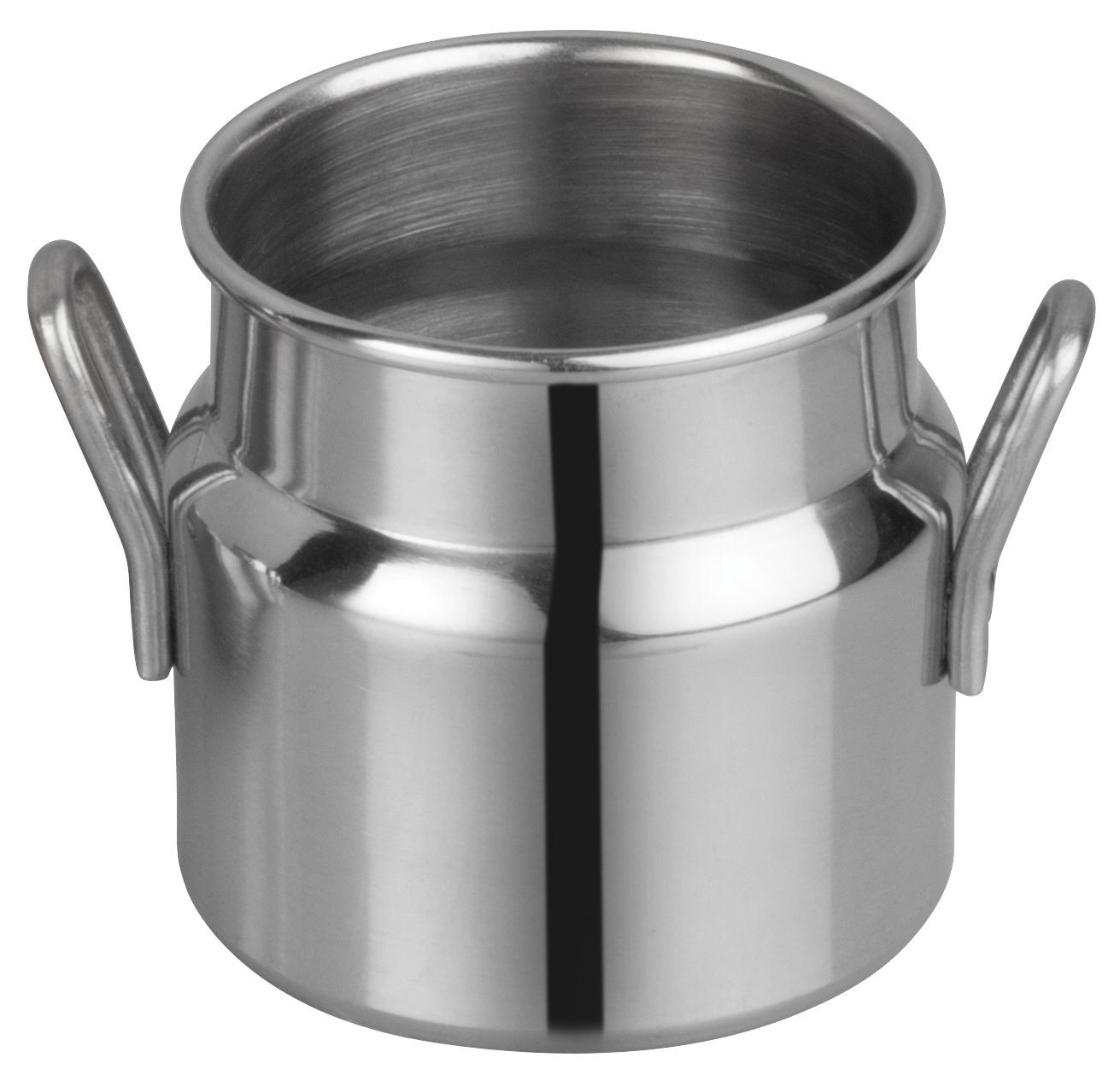 "Winco DDSD-101S Stainless Steel 2"" Dia x 2"" H Mini Milk Can"