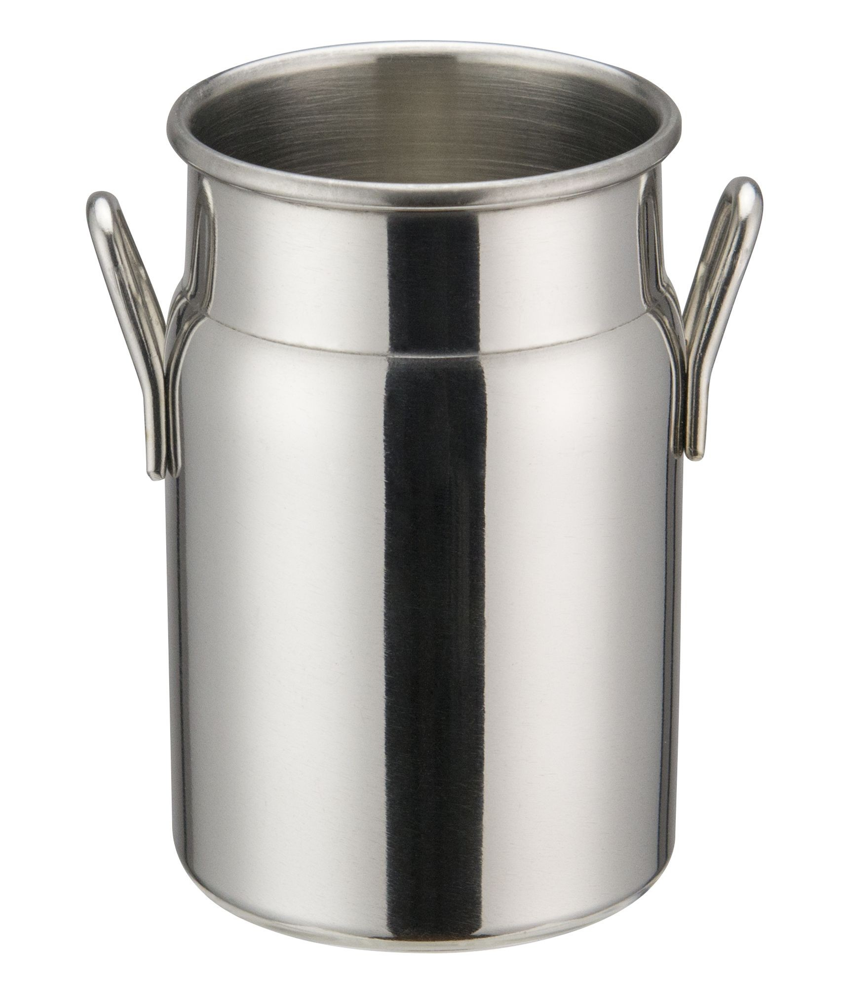 """Winco DDSD-102S Stainless Steel 2"""" Dia x 3-1/8"""" H Mini Milk Can"""