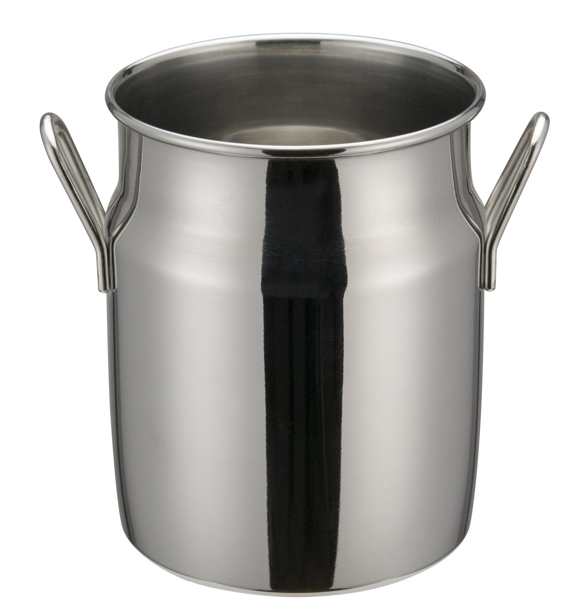 "Winco DDSD-103S Stainless Steel 3-1/8"" Dia x 4"" H Mini Milk Can"