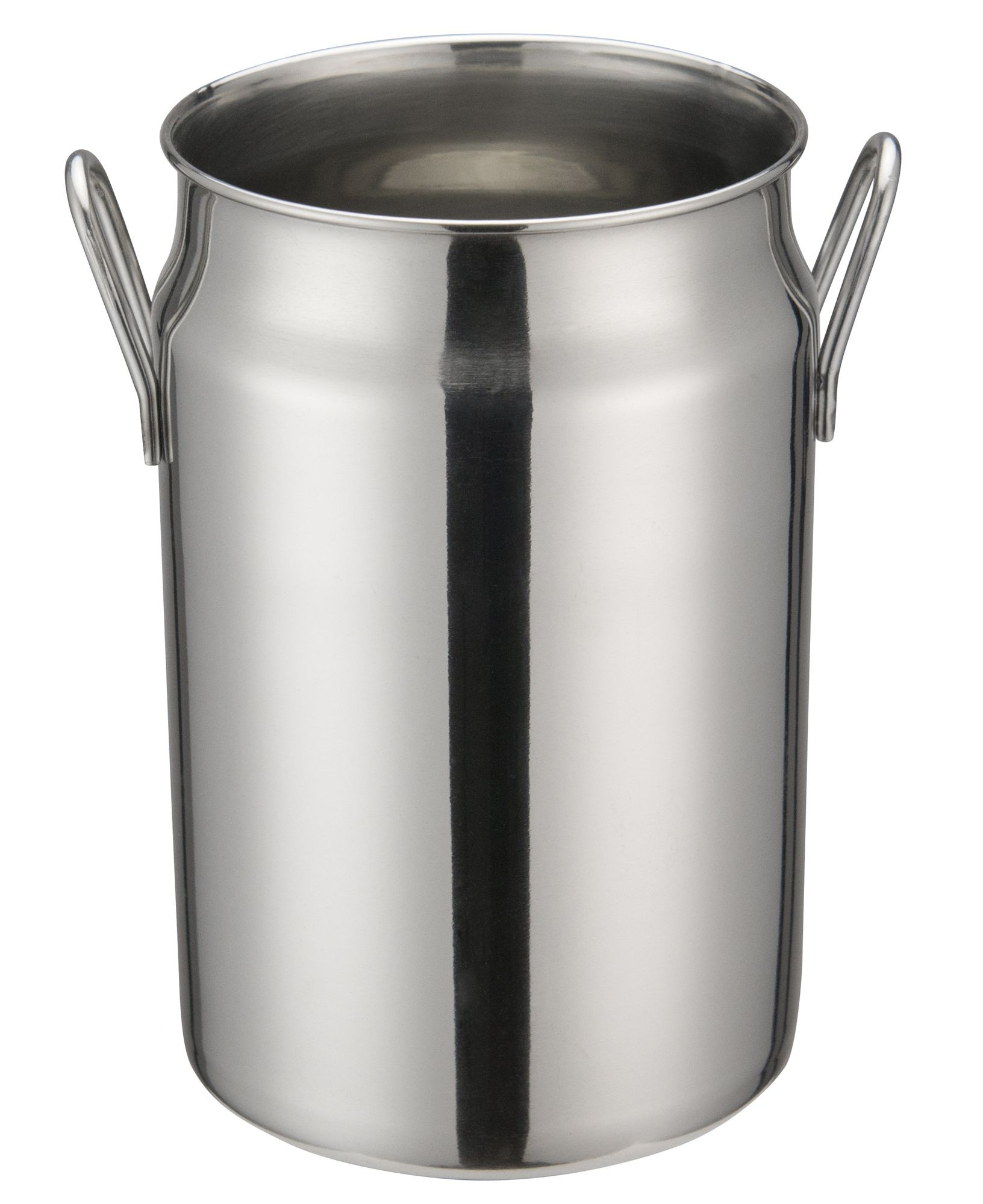 "Winco DDSD-104S Stainless Steel 3-1/8"" Dia x 5"" H Mini Milk Can"