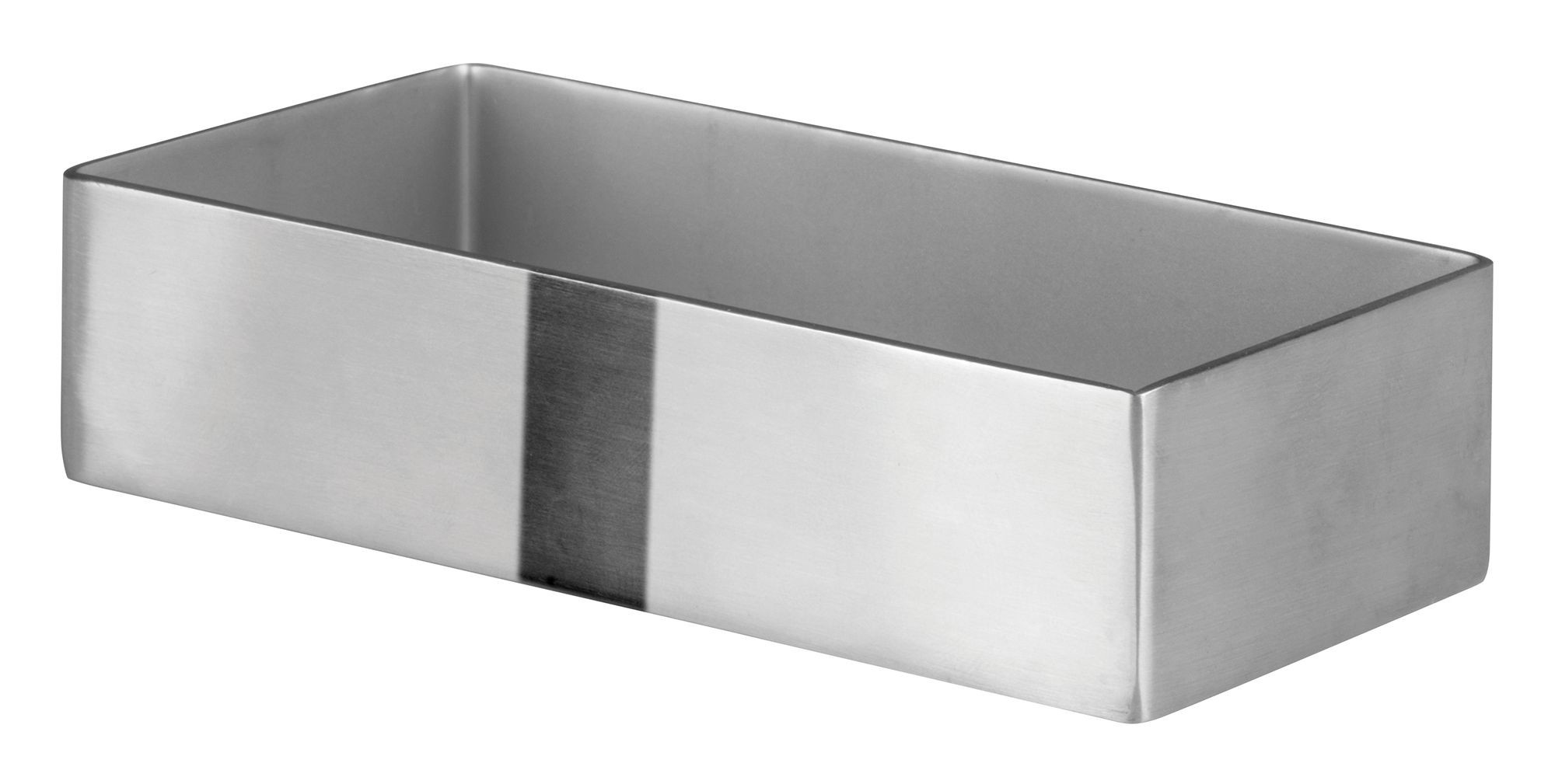"Winco DDSG-101S Stainless Steel Rectangular 3-3/16"" x 2-1/2"" Sugar Packet Holder"