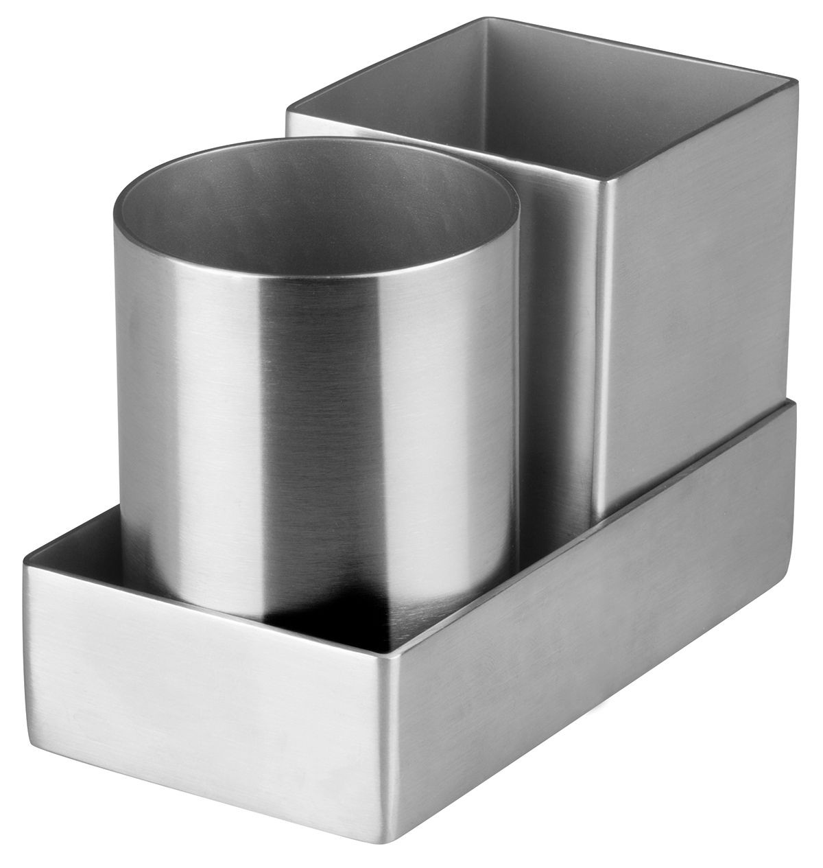 Winco DDSG-301S Round & Square Stainless Steel Sugar Packet Holder Set