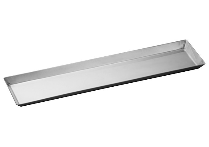 "Winco DDSI-101S Stainless Steel Long Serving Tray 14-1/8"" x 3-1/2"""