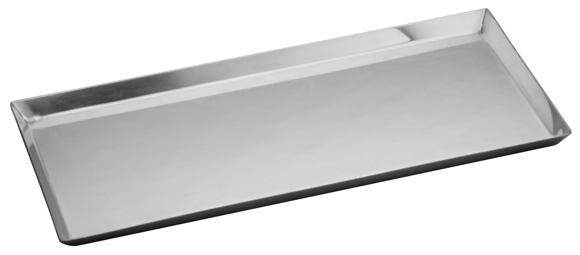 "Winco DDSI-102S Stainless Steel Long Serving Tray 14-1/8"" x 7-1/2"""