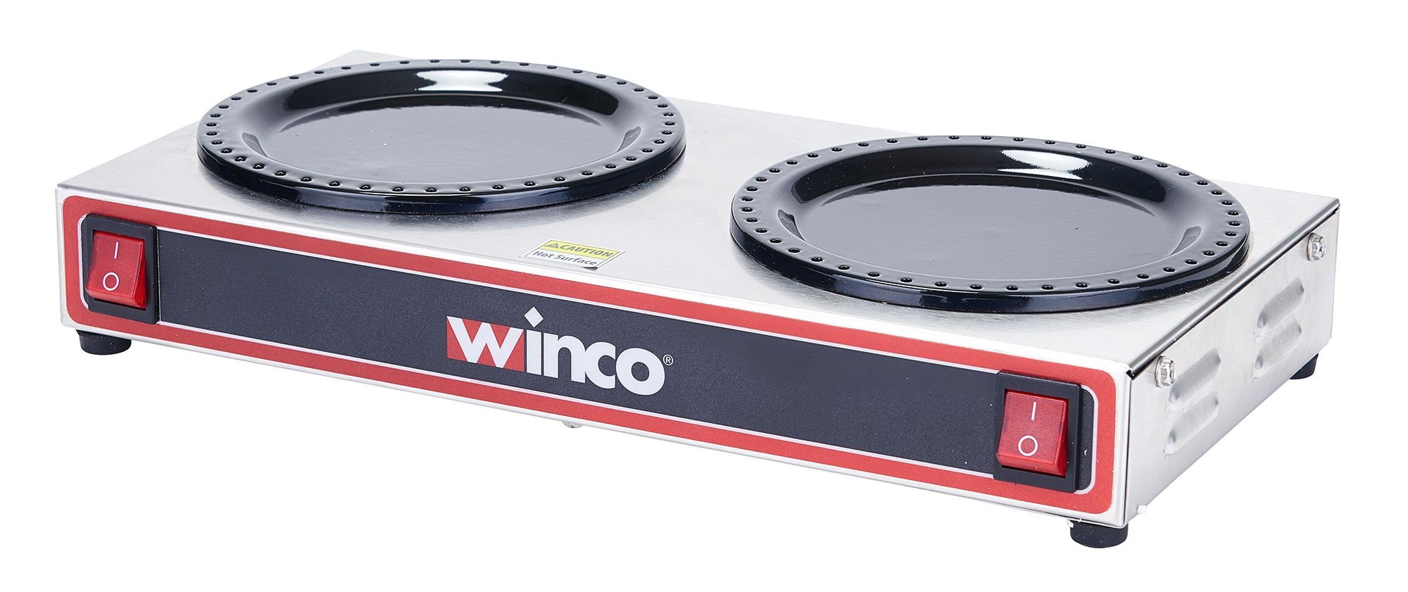 Winco ECW-2 Electric Coffee Warmer, Double Burner 120V, 200W