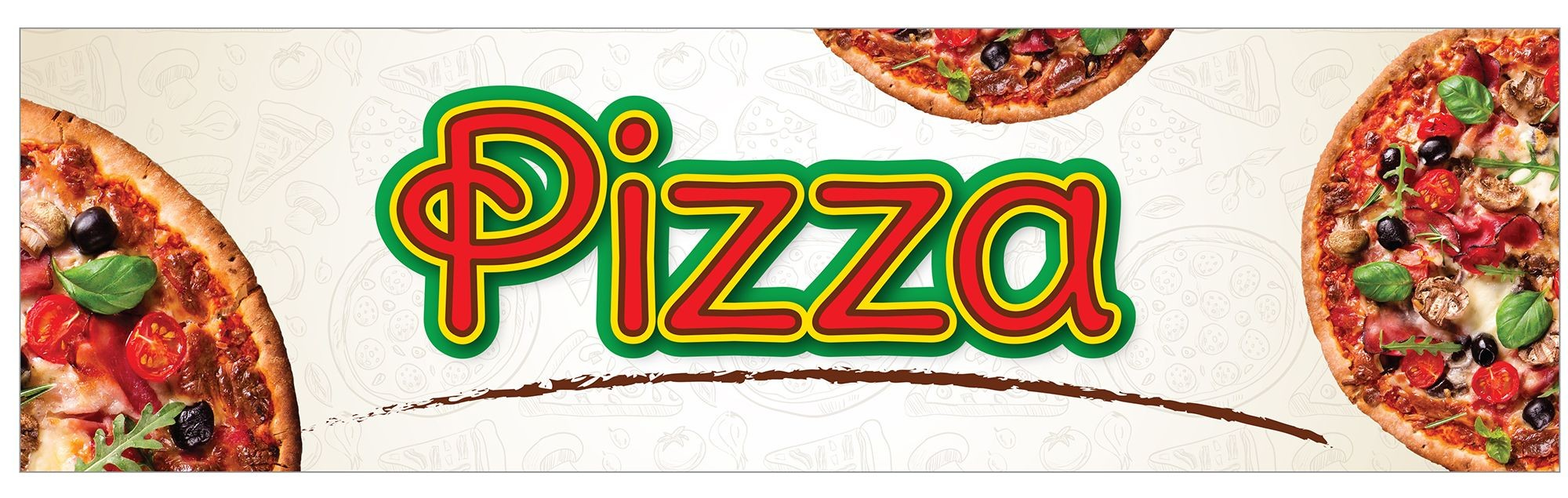Winco EDM-2PZS Pizza Sign for EDM-2 Display Merchandiser