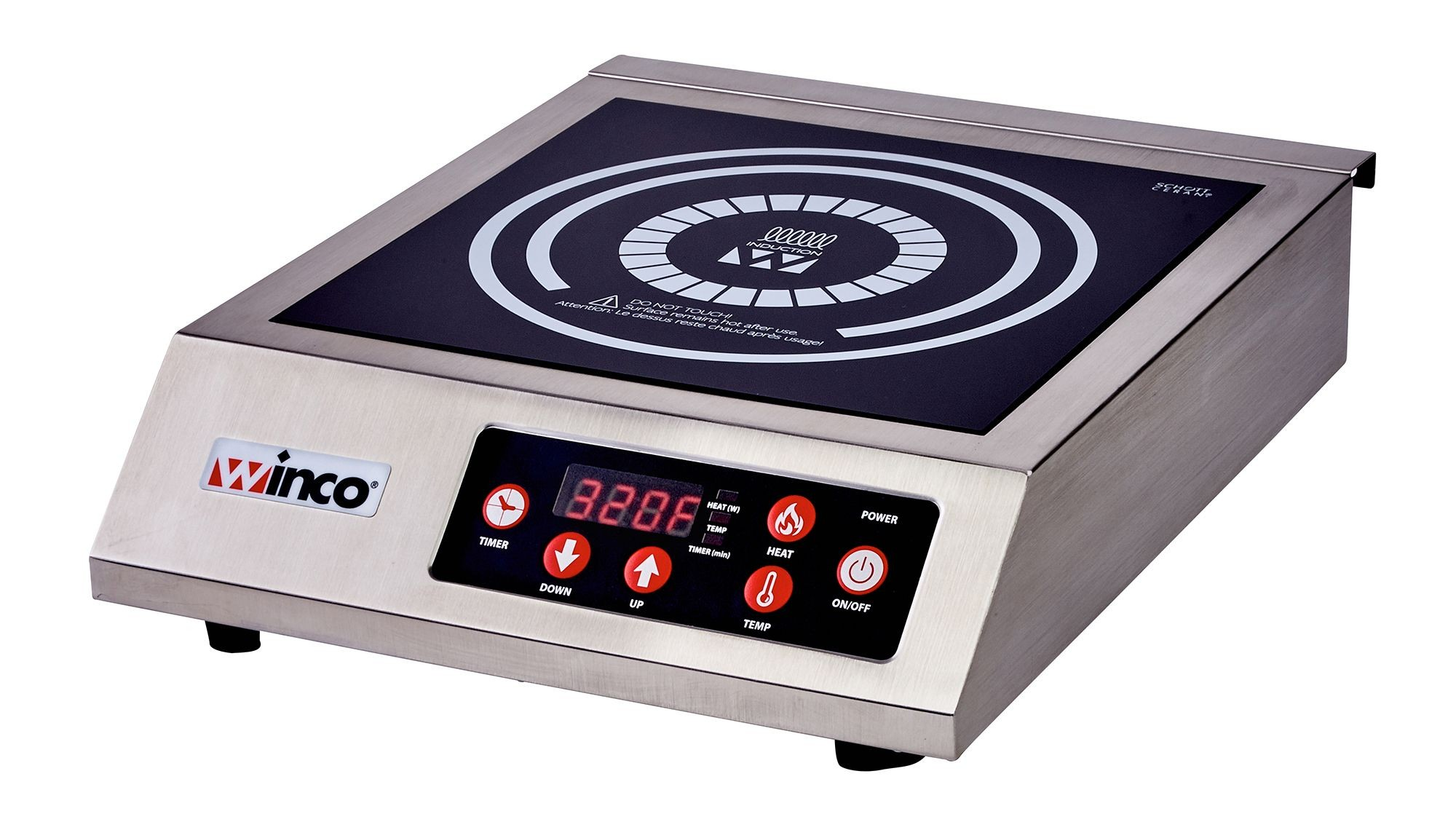 Winco EIC-400 Electric Induction Cooker, 120V, 1800W