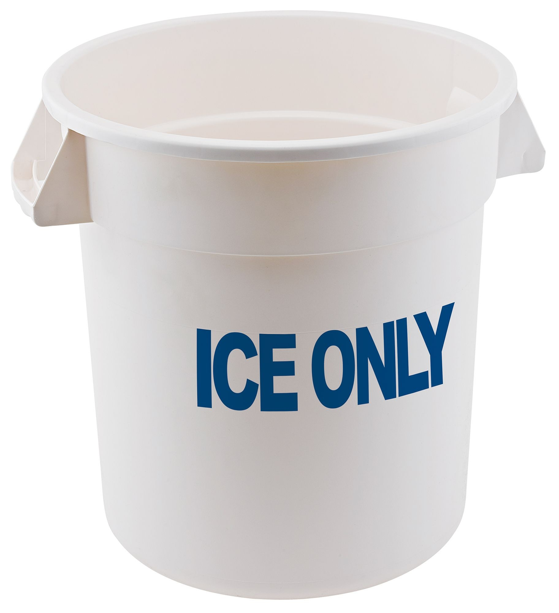 Winco FCW-10 ICE ICE ONLY White Polyethylene 10 Gallon Container
