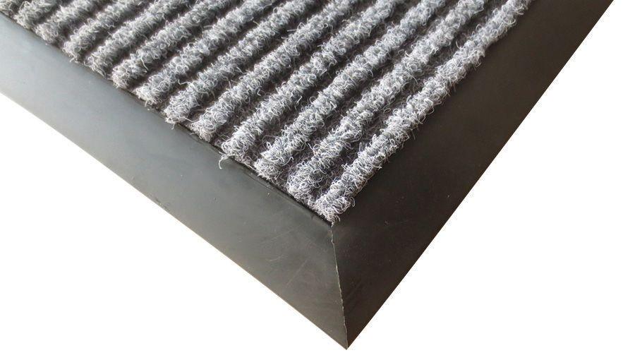 "Winco FMC-310C Charcoal Carpet Floor Mat, 3"" x 10"""