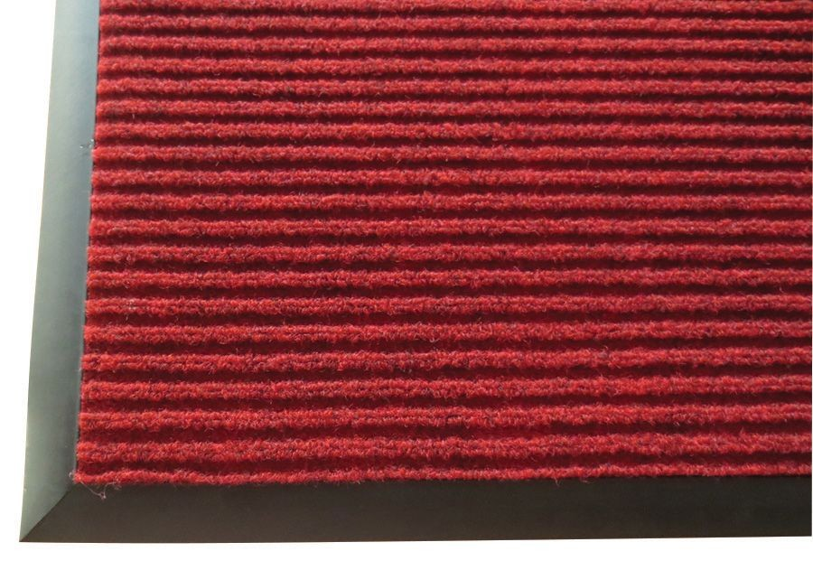 "Winco FMC-310U Burgundy Carpet Floor Mat 3"" x 10"""
