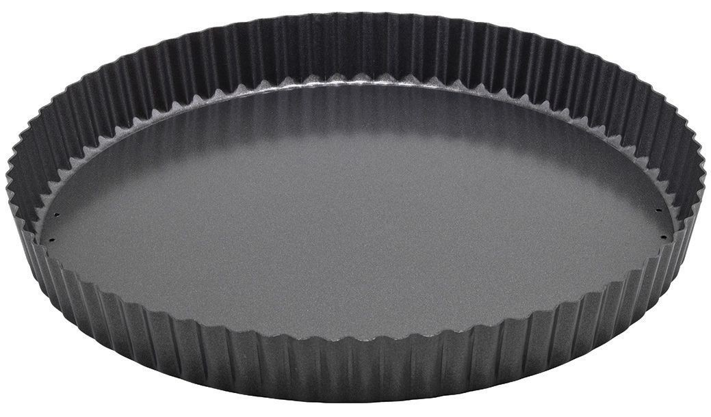 "Winco FQP-12 Carbon Steel Non-Stick 12"" Quiche Pan"