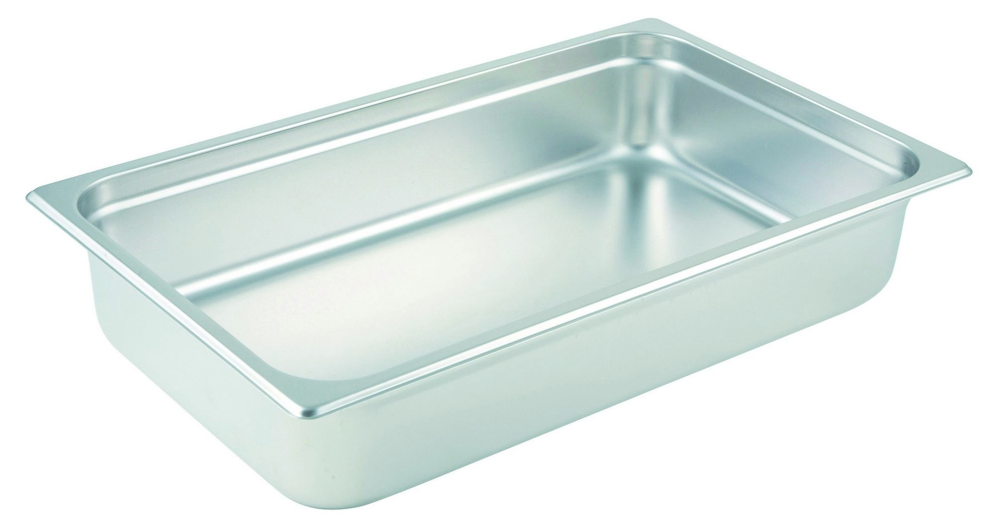 "Winco SPJM-104 Full Size Anti-Jam 24 Gauge Steam Table Pan 4"" Deep"