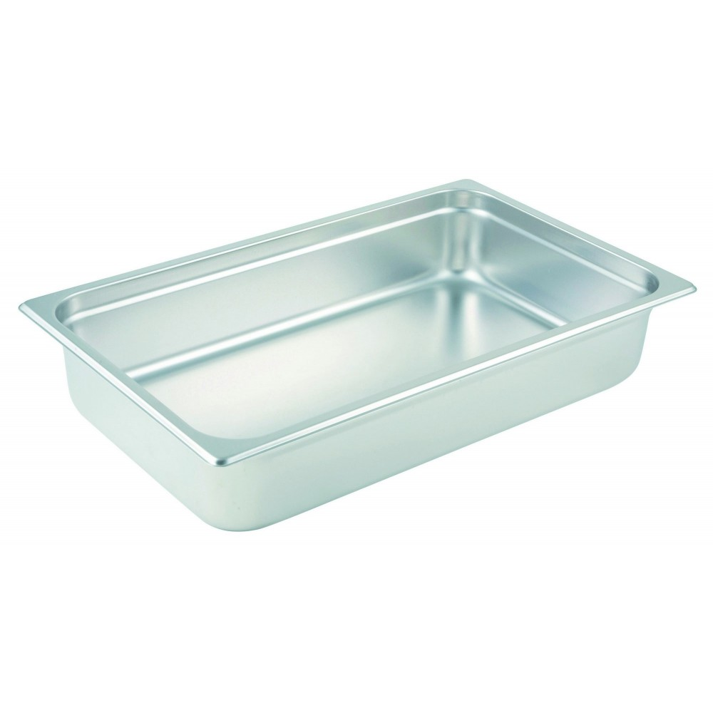 Winco Full Size Anti-Jamming Steam Table Pan (25 Gauge, 4