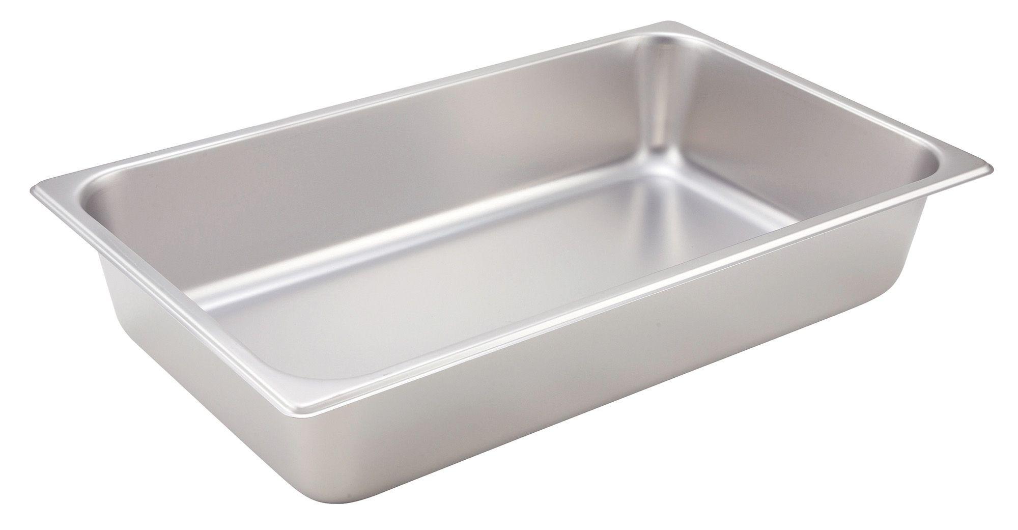 "Winco SPF4 Full Size 25 Gauge Steam Table Pan 4"" Deep"