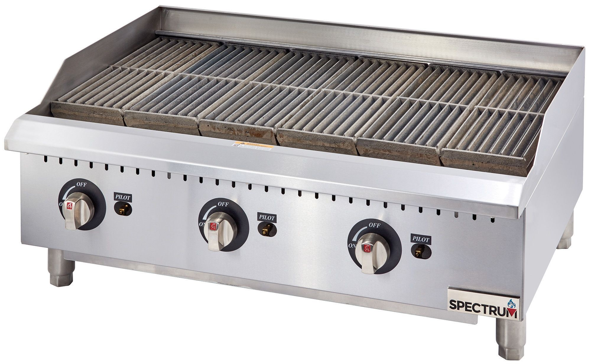 """Winco GCB-36R Spectrum Radiant Charbroiler, 36"""" Wide"""