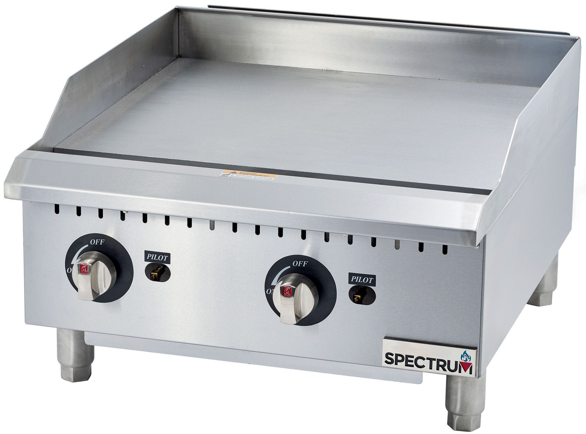 Winco GGD-24M Spectrum Gas Countertop Griddle with Manual Controls 24""