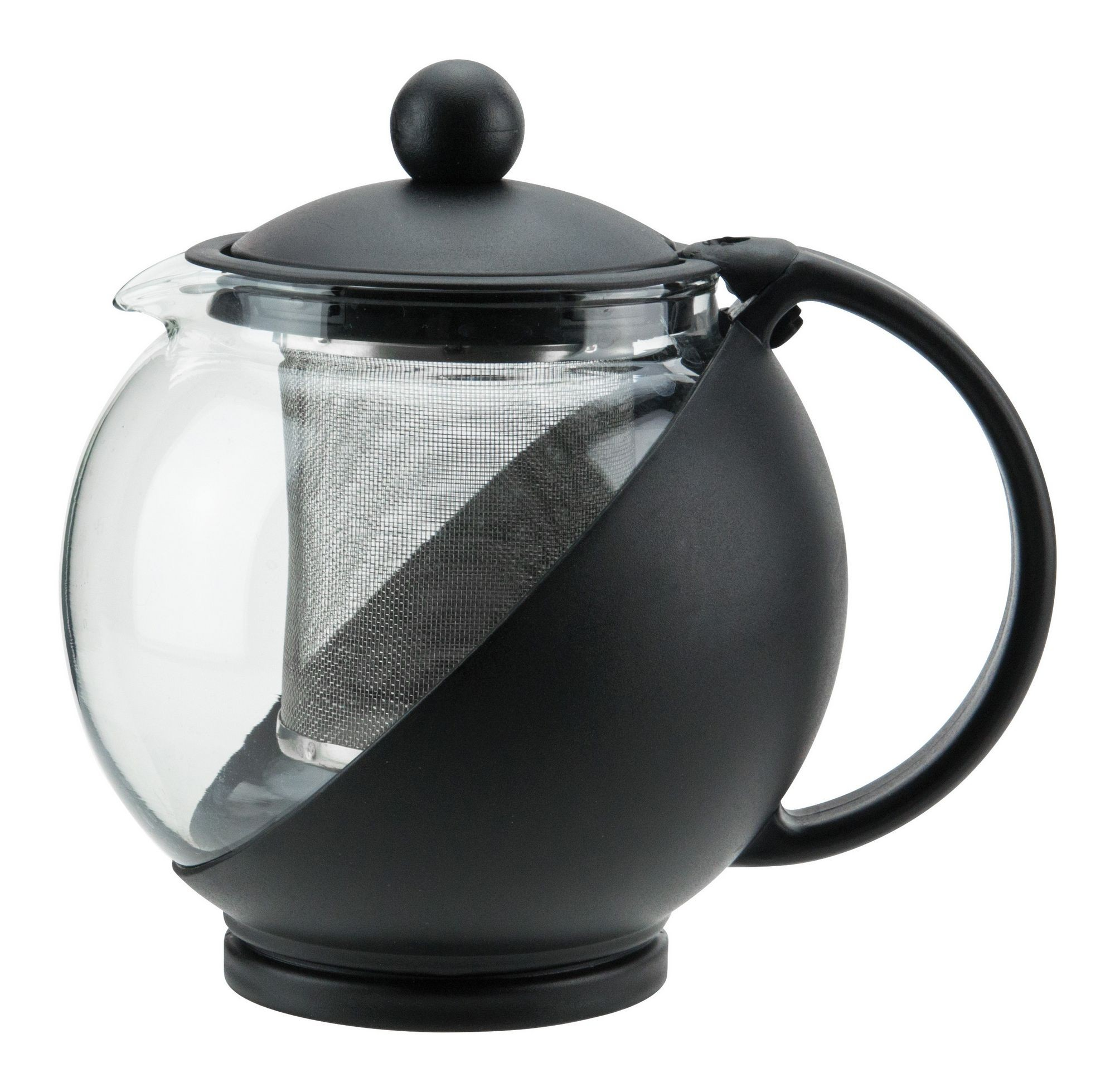 Winco GTP-25 Glass Teapot 25 oz. with Infuser Basket