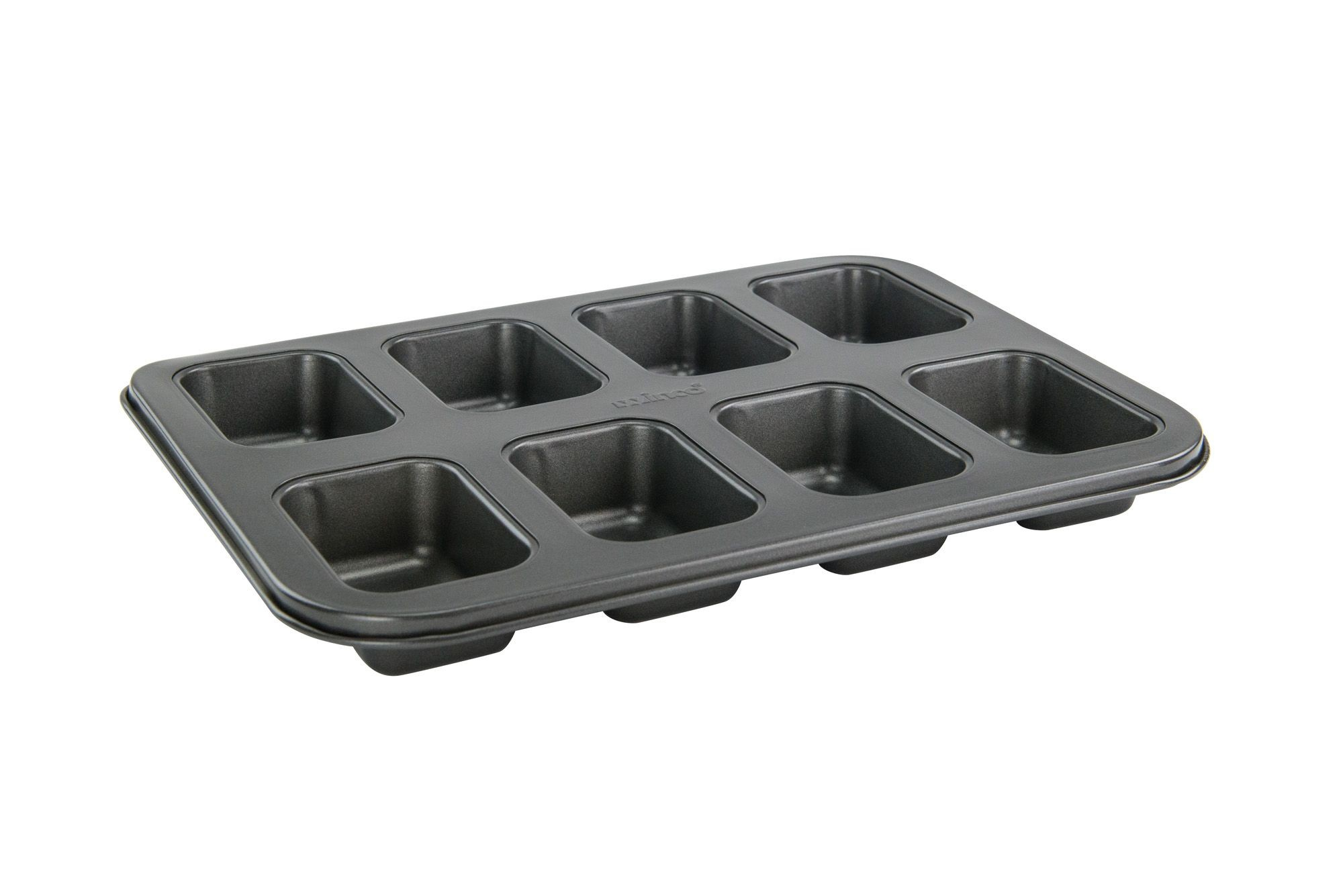 Winco HLF-8MN 8-Section Non-Stick Carbon Steel Mini Loaf Pan