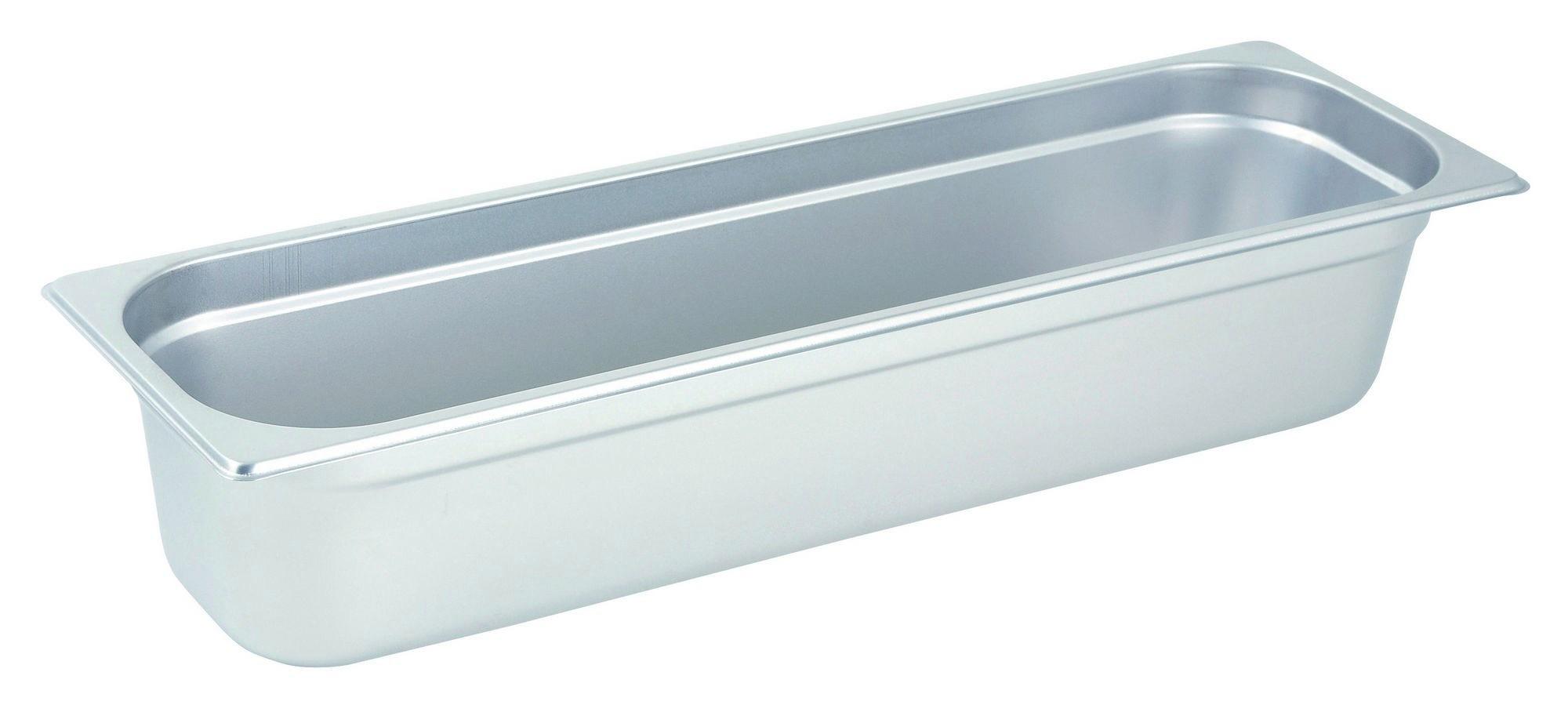 "Winco Spjl-4hl Half-Long Size Anti-Jam 25 Gauge Steam Table Pan 4"" Deep"
