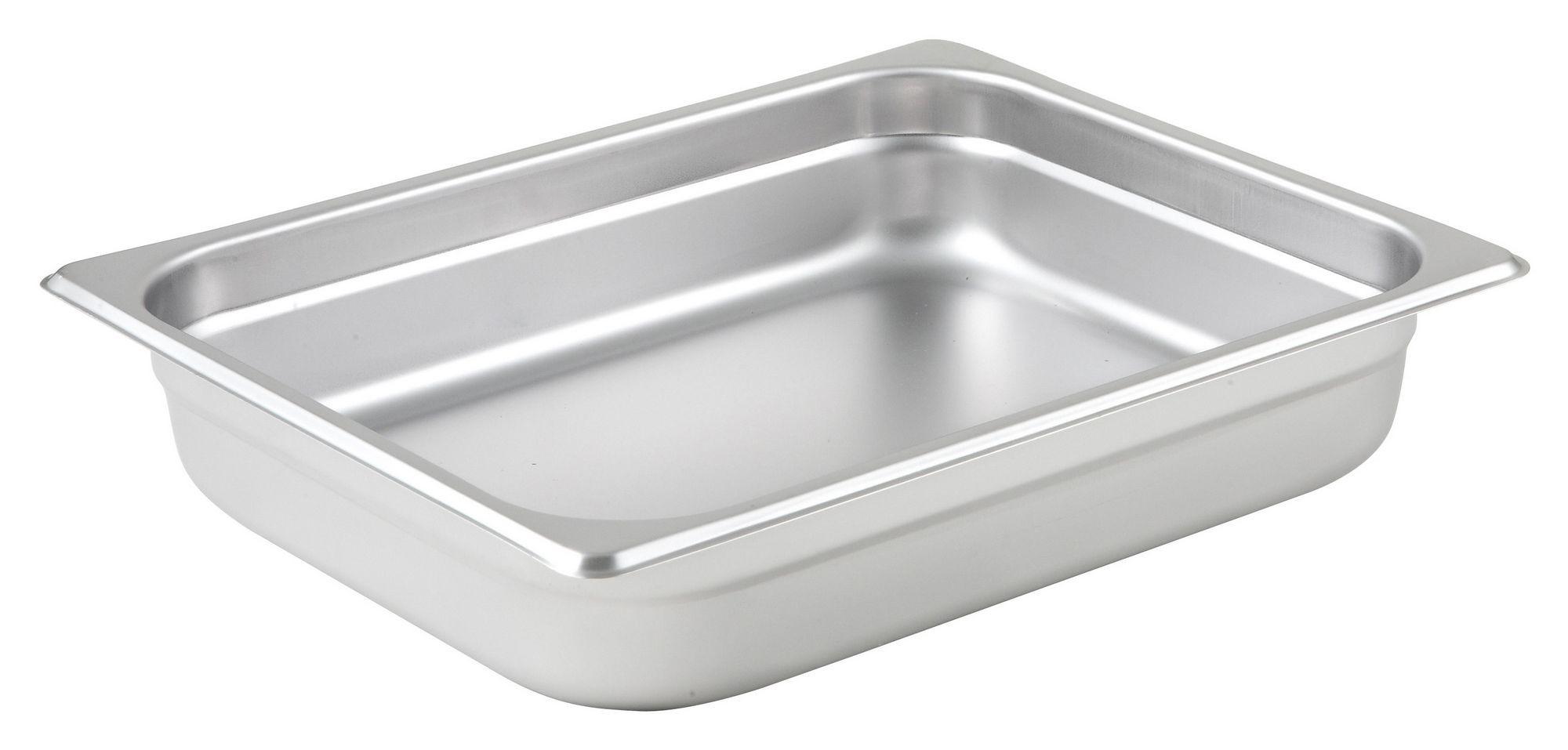 "Winco Spjl-202 1/2 Size Anti-Jam 25 Gauge Steam Table Pan 2-1/2"" Deep"