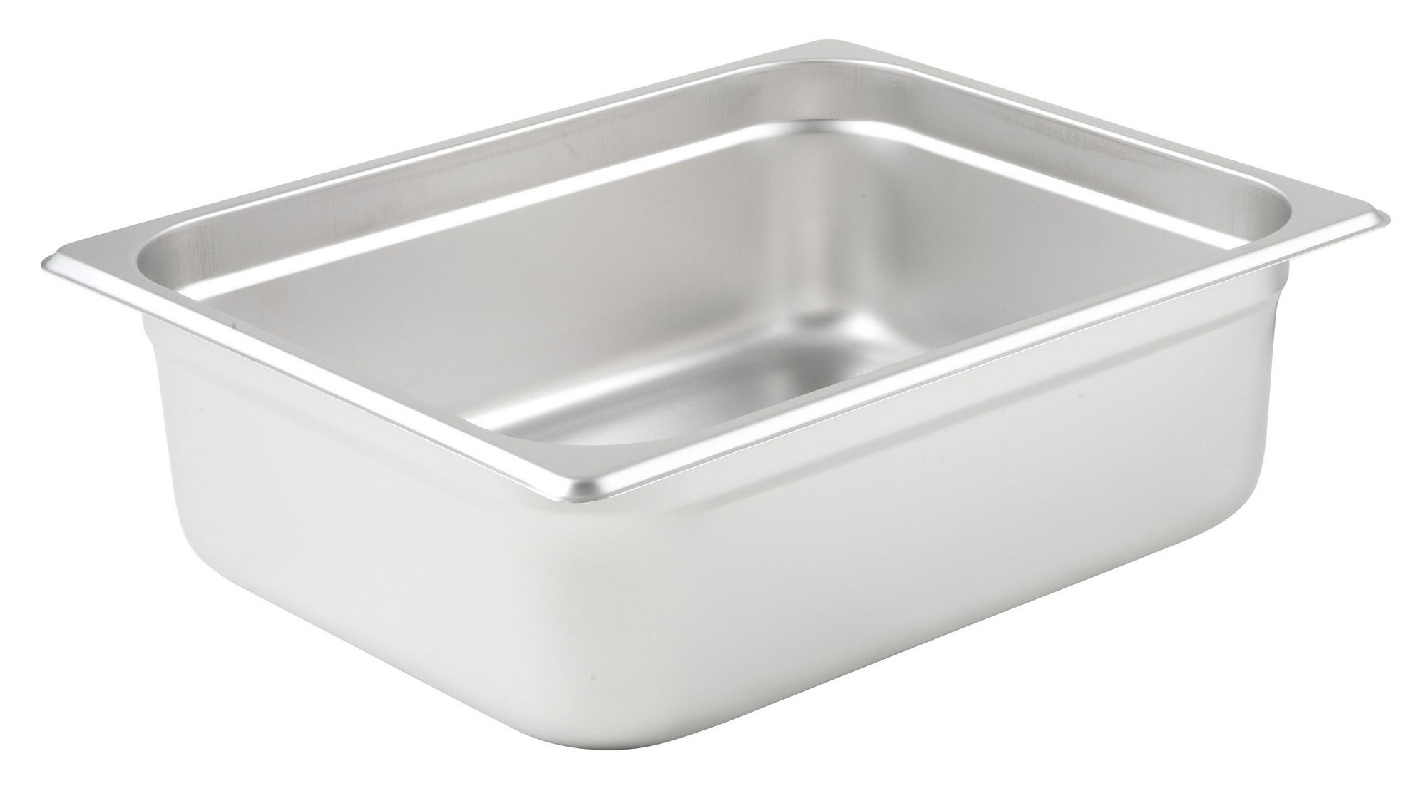 "Winco SPJL-204 1/2 Size Anti-Jam 25 Gauge Steam Table Pan 4"" Deep"
