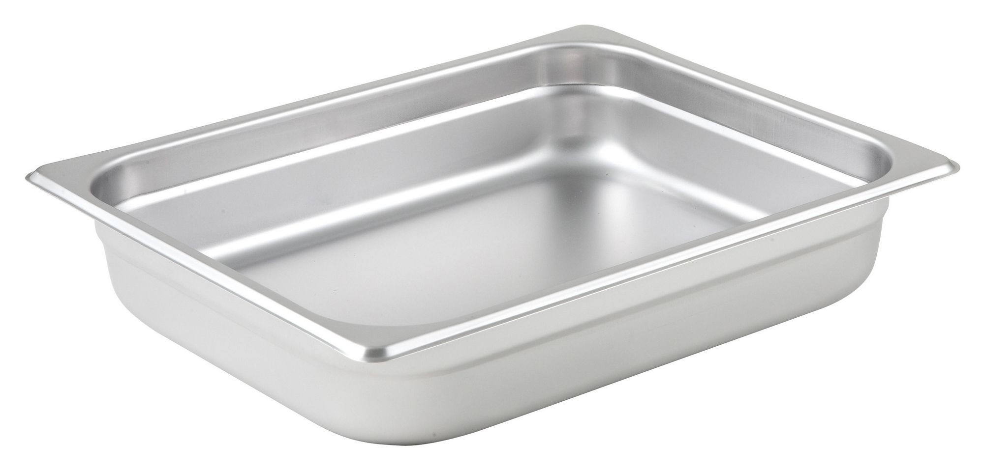 "Winco SPJM-202 1/2 Size Anti-Jam 24 Gauge Steam Table Pan 2-1/2"" Deep"