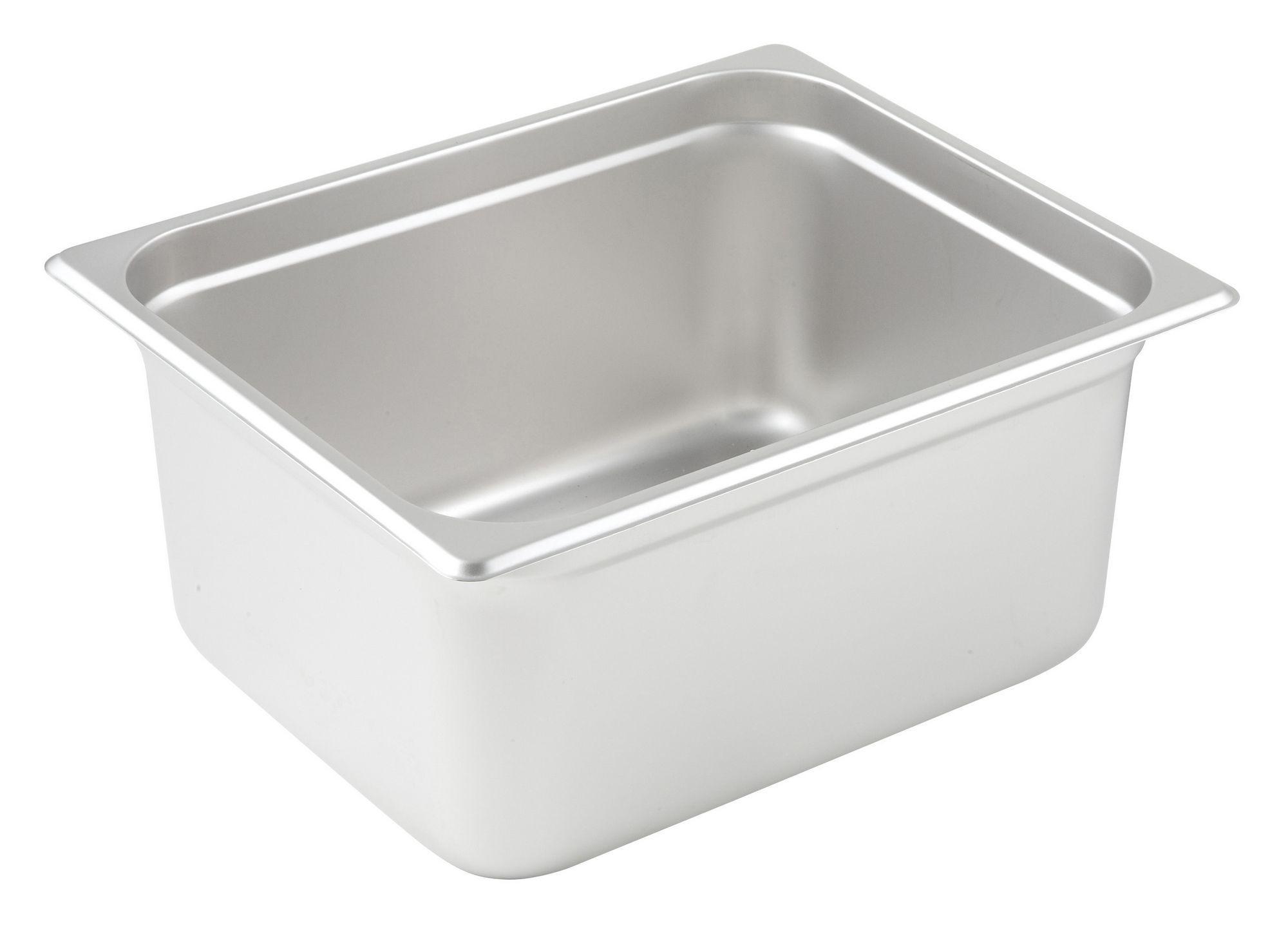 Winco Half Size Anti-Jamming Steam Table Pan (23 Gauge, 6