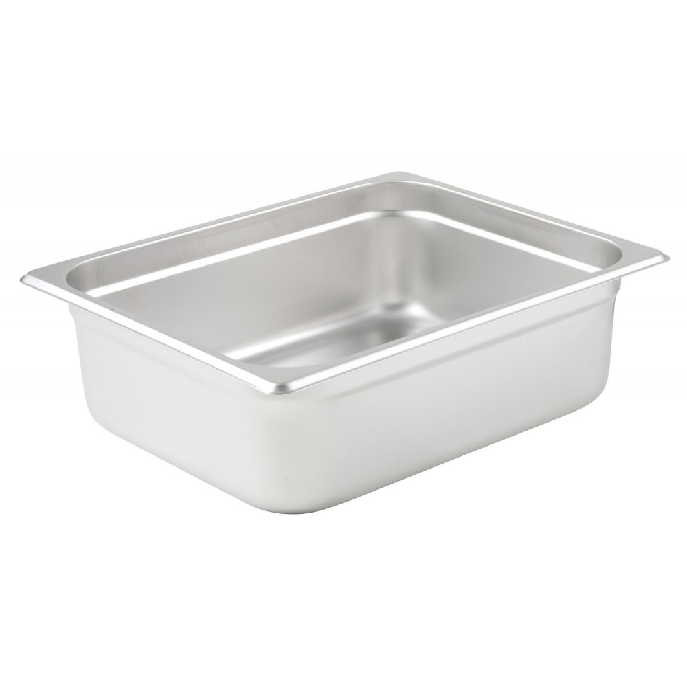 "Half Size Anti-Jamming Steam Table Pan, 25 Gauge, 4"" Deep"
