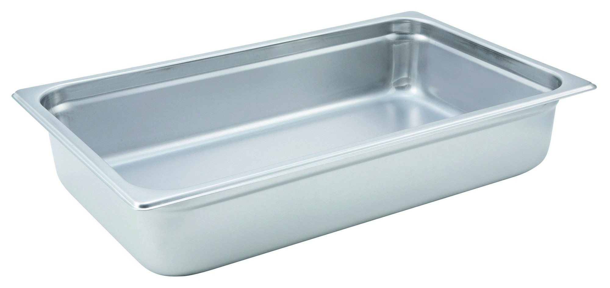 Winco Heavy Full Size Anti-Jamming Steam Table Pan (22 Gauge, 4