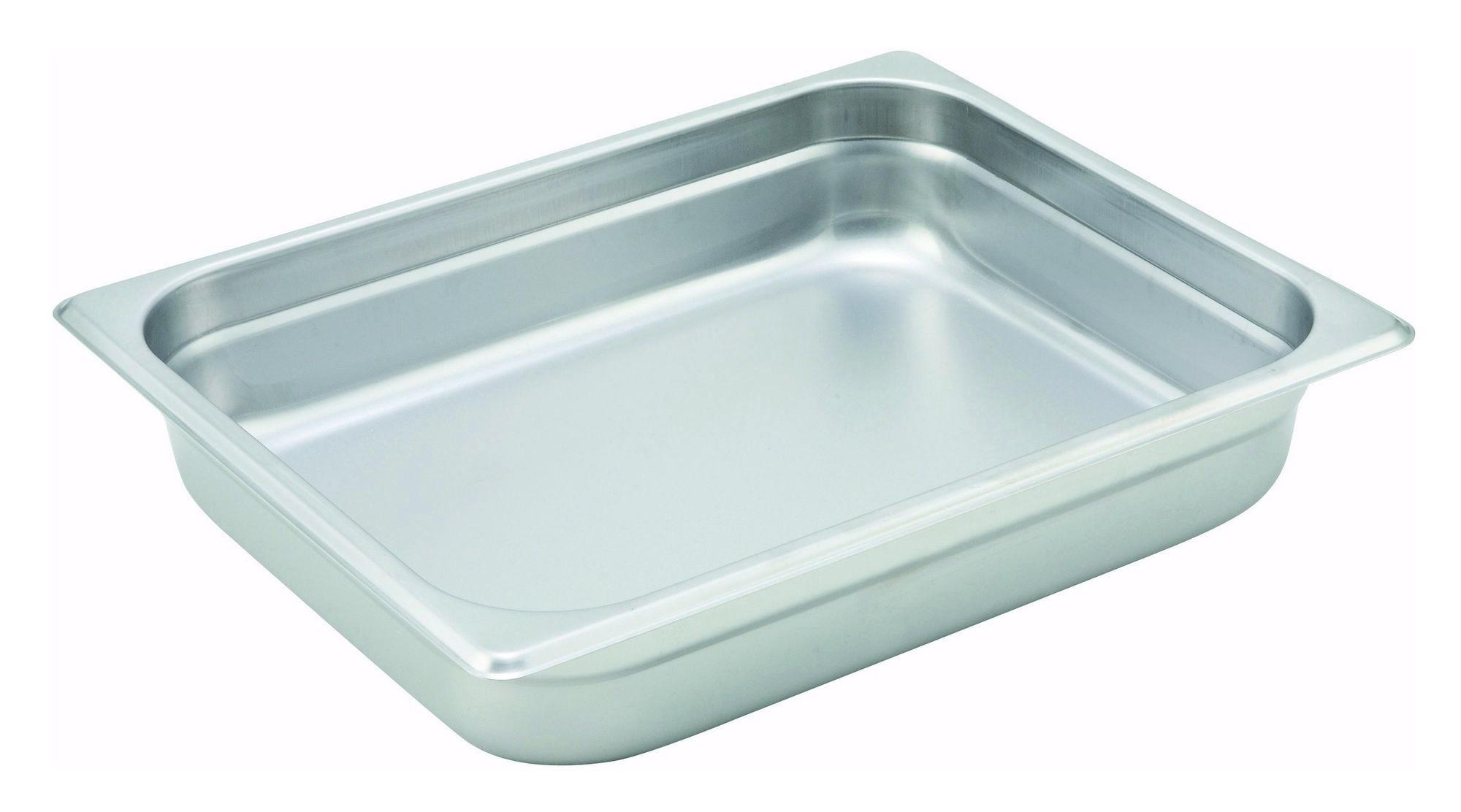 "Winco SPJH-202 1/2 Size Anti-Jam 22 Gauge Steam Table Pan 2-1/2"" Deep"