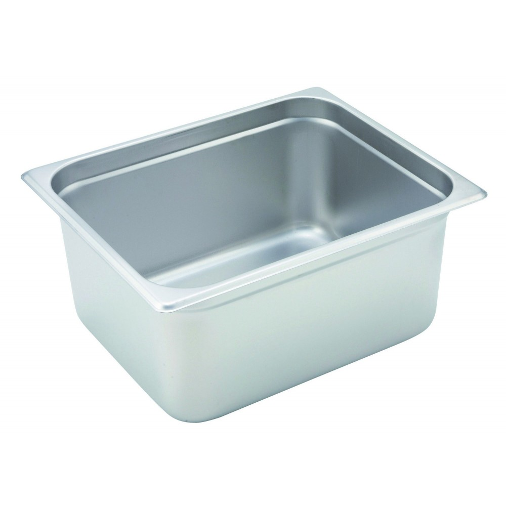 "Winco Spjh-206 1/2 Size Anti-Jam 22 Gauge Steam Table Pan 6"" Deep"