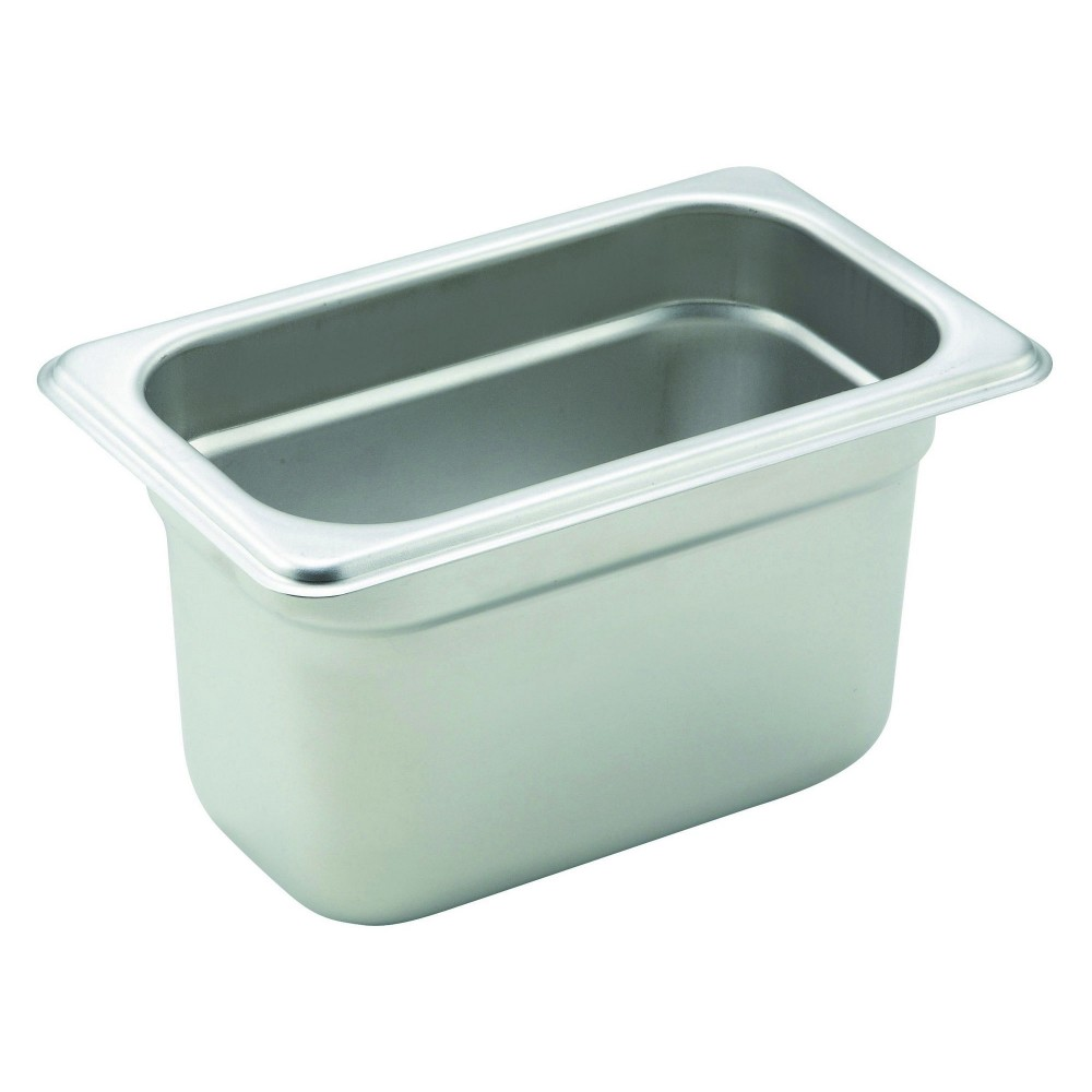 Winco Heavy Ninth Size Anti-Jamming Steam Table Pan (22 Gauge, 4