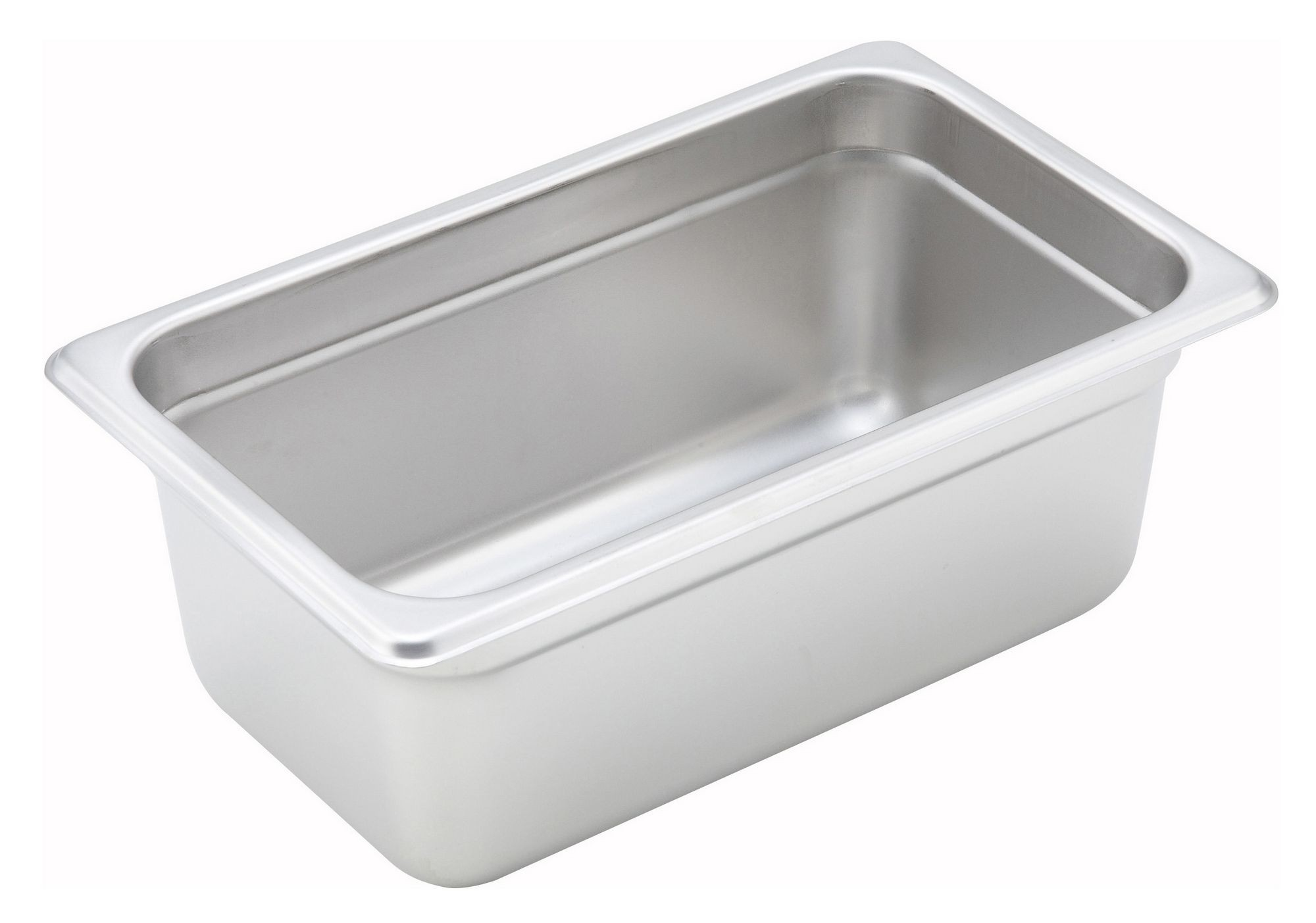 "Winco SPJH-404 1/4 Size Anti-Jam 22 Gauge Steam Table Pan 4"" Deep"