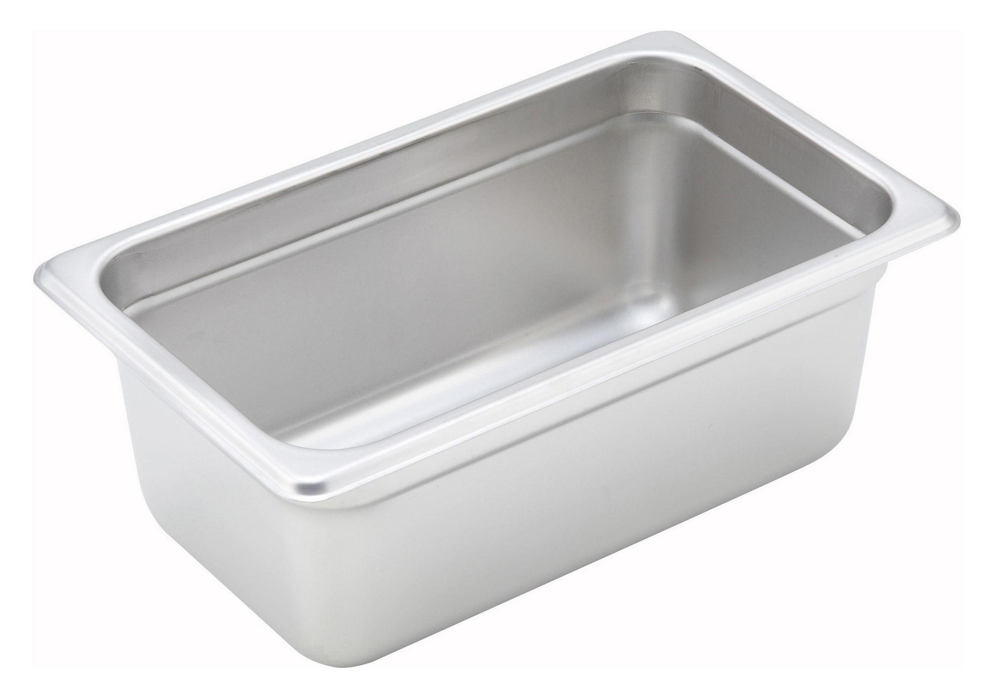 "Winco Spjh-404 1/4 Size Anti-Jam 22 Gauge Steam Table Pan 4"" Deep"