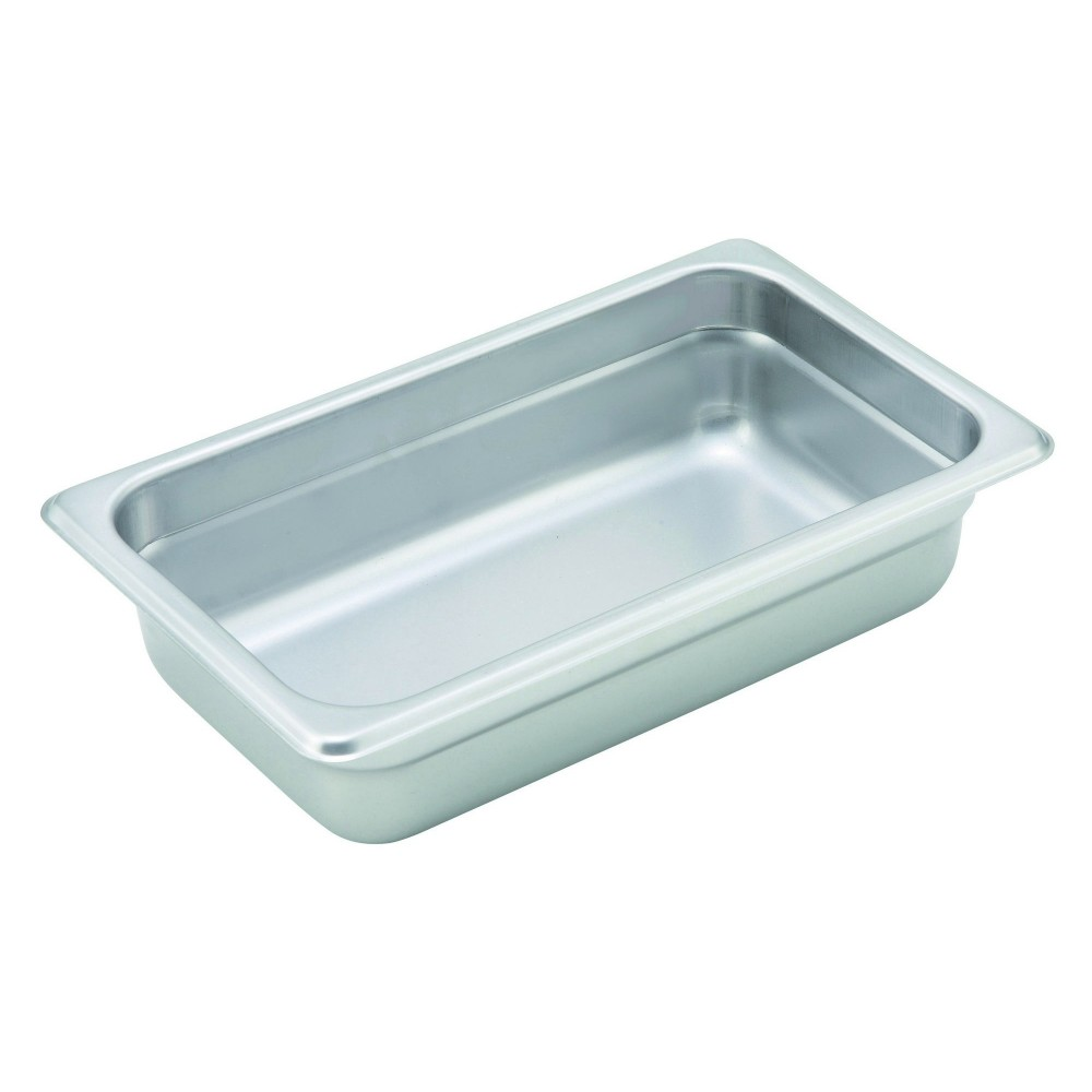 Winco Heavy Quarter Size Anti-Jamming Steam Table Pan (22 Gauge, 2.5