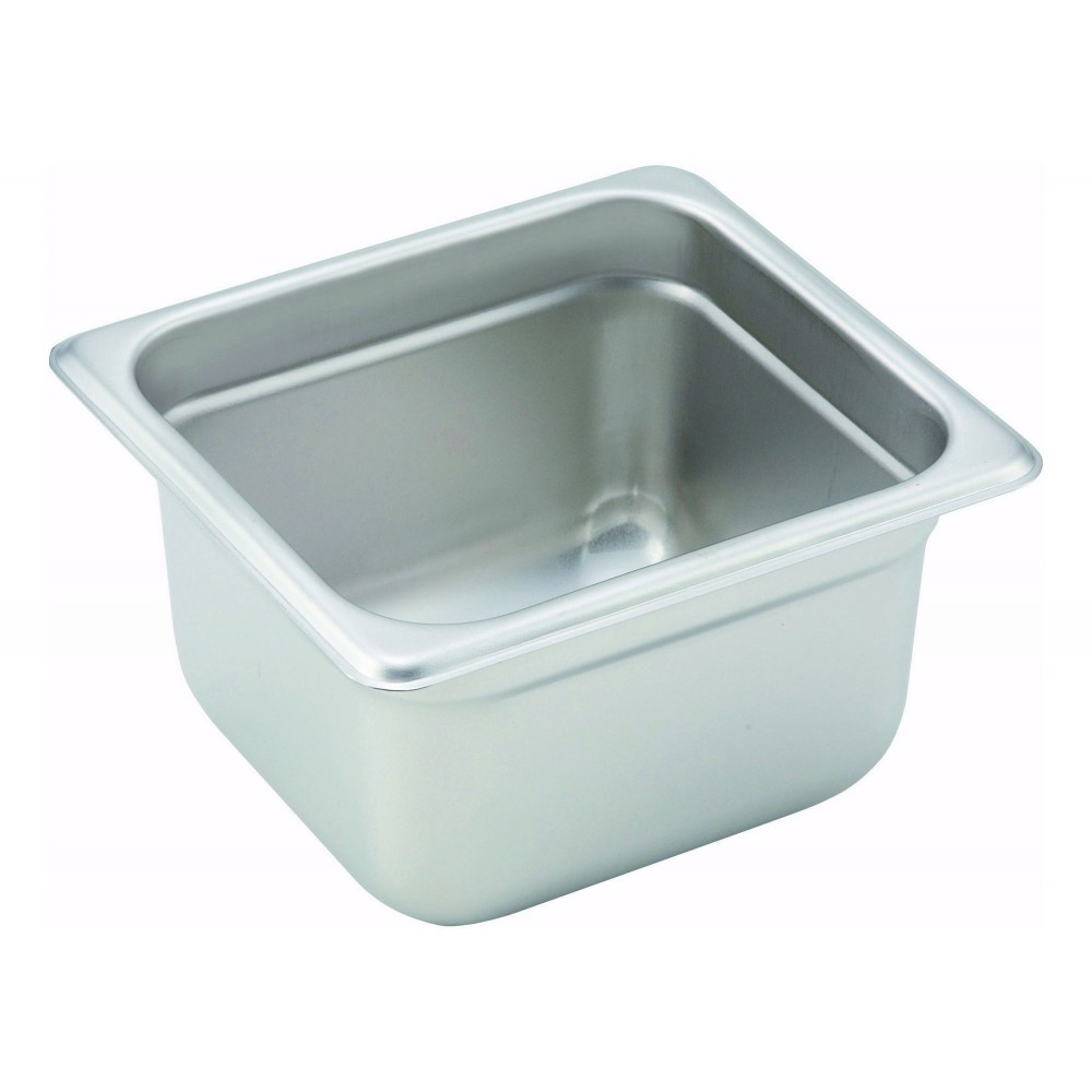 Winco Heavy Sixth Size Anti-Jamming Steam Table Pan (22 Gauge, 4