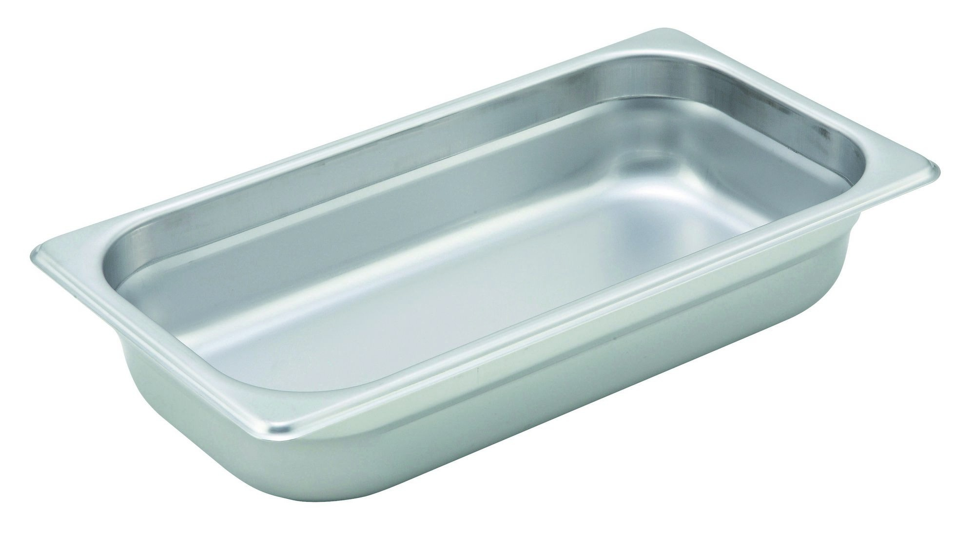 Winco Heavy Third Size Anti-Jamming Steam Table Pan (22 Gauge, 2.5