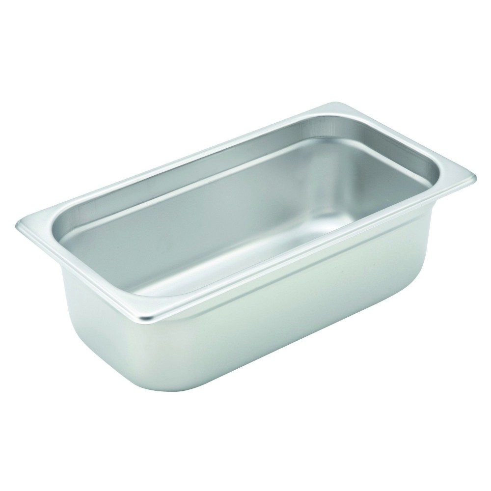 "Winco Spjh-304 1/3 Size Anti-Jam 22 Gauge Steam Table Pan 4"" Deep"