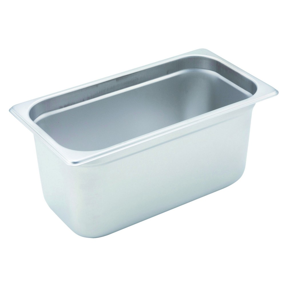 Winco Heavy Third Size Anti-Jamming Steam Table Pan (22 Gauge, 6