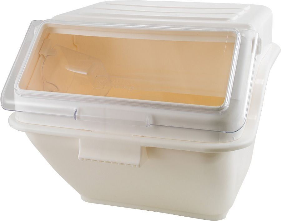 Winco IB-10S Ingredient Shelf Bin, White 10 Gallon