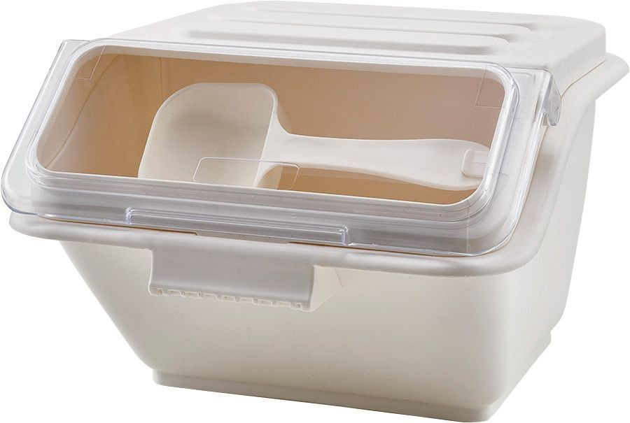 Winco IB-2S Ingredient Shelf Bin, White 2 Gallon