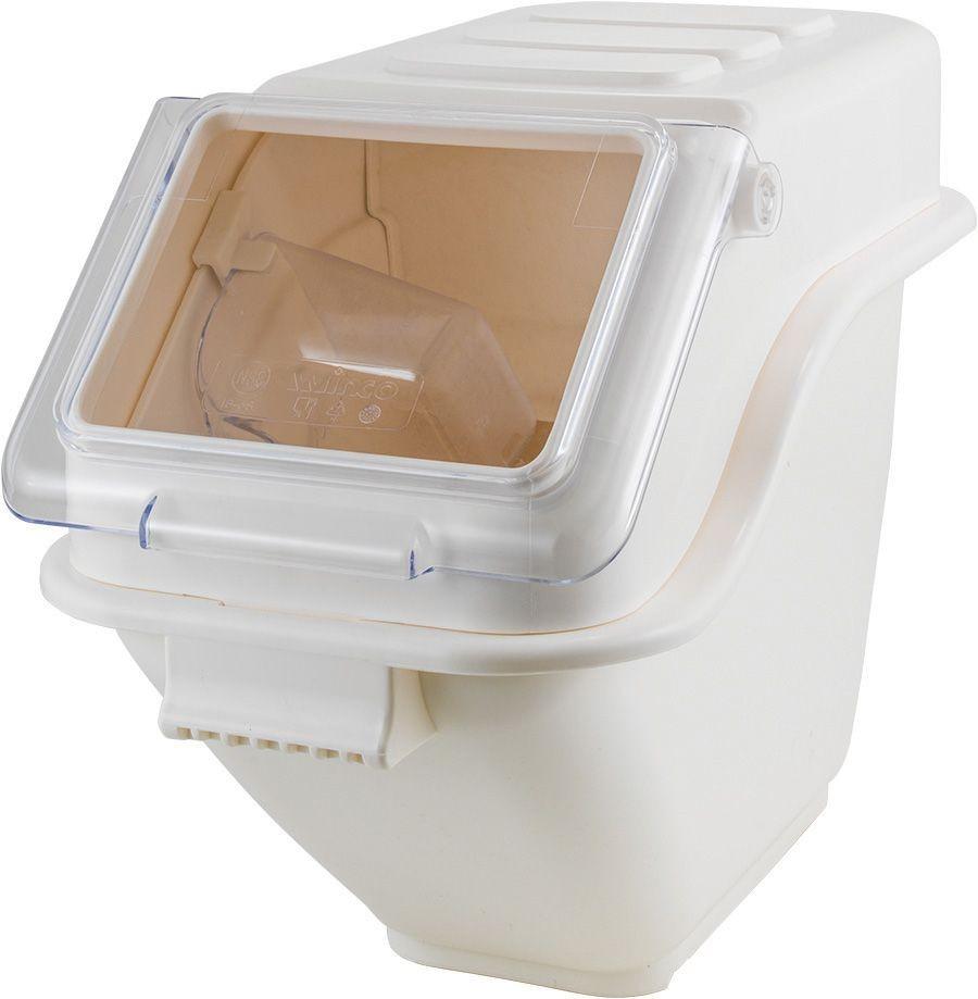 Winco IB-5S Ingredient Shelf Bin, White 5 Gallon