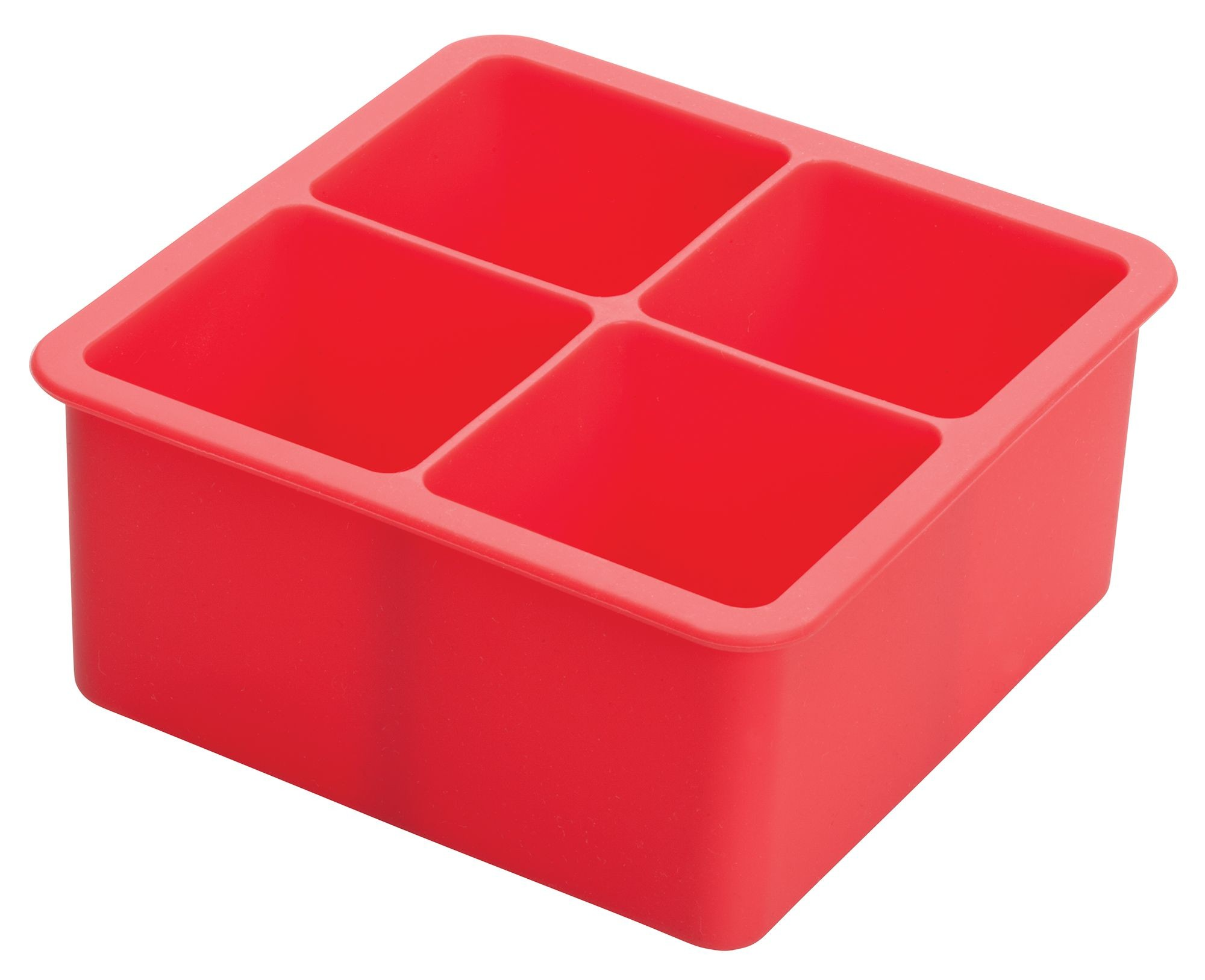 Winco ICCT-4R Silicone 4-Cube Ice Tray