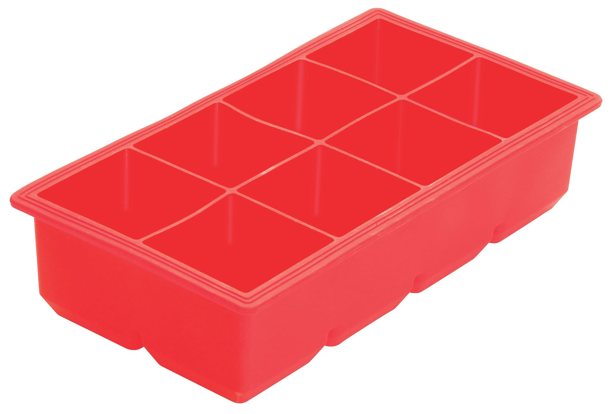 Winco ICCT-8R Silicone 8-Cube Ice Tray