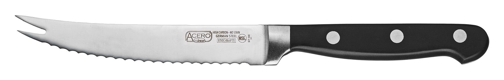 "Winco KFP-51 Acero 5"" Tomato Knife"