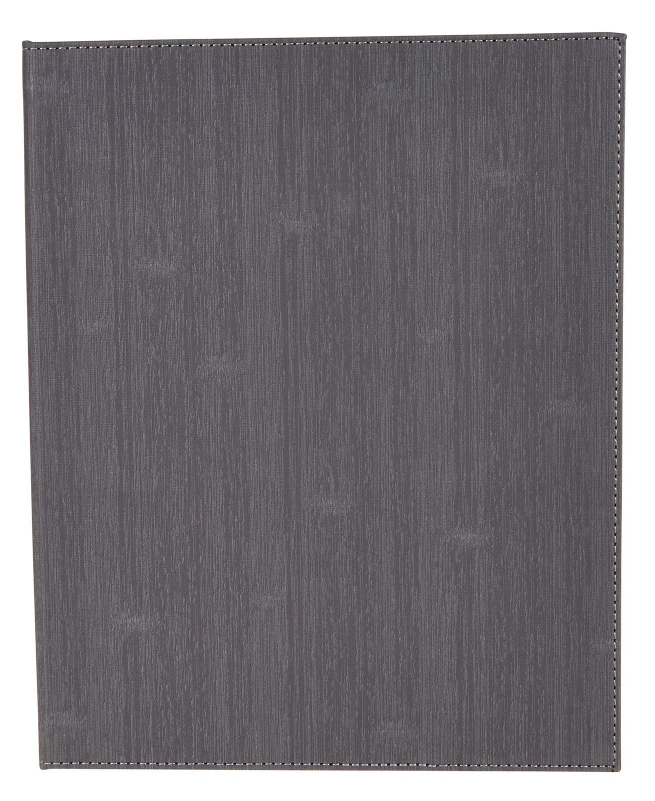 "Winco LMD-814GY 8-1/2"" x 14"" Gray Leatherette Two Panel Menu Cover"